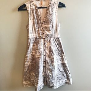 Anthropologie Maeve printed Button Down Dress
